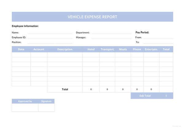 expense report template 11 free sample example format free
