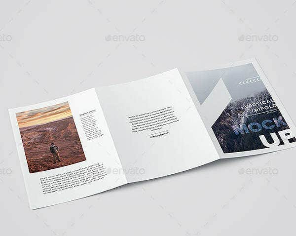 Vertical A4 Trifold Brochure Template