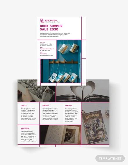 vertical bi fold brochure template2