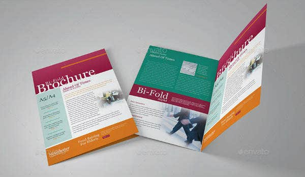 vertical bi fold brochure template1
