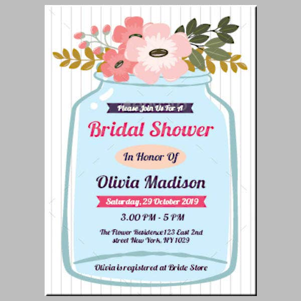 Vintage Modern Bridal Shower Card