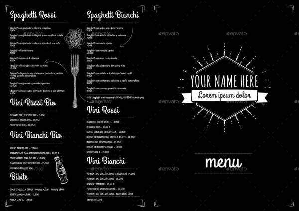 Vintage Pub Menu Template