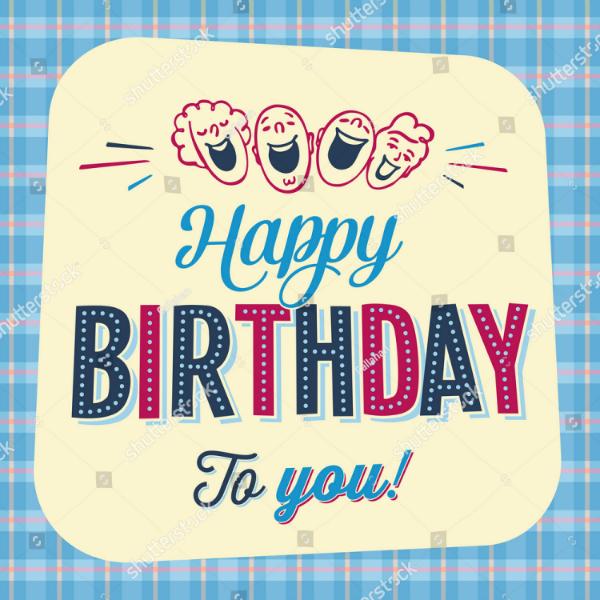 Vintage Style Personalized Birthday Card Template