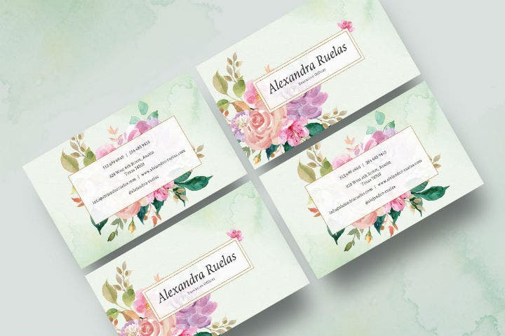 watercolor-floral-business-card-template