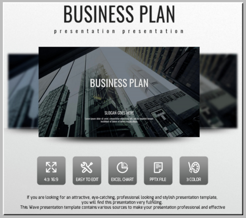 wave business plan powerpoint presentation 788x698
