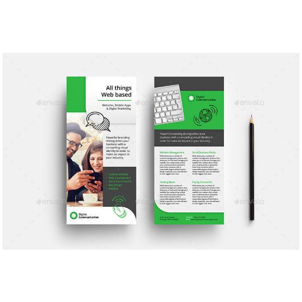 Web Design Service Rack Card Template