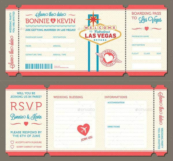 Wedding Blank Invitation and RSVP Card Template