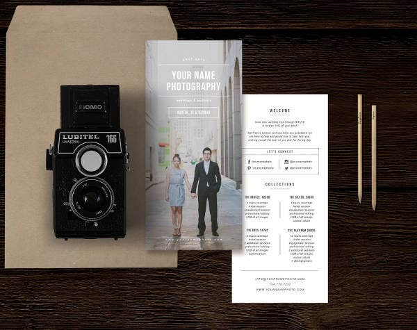 Wedding Photographer Rack Card Example