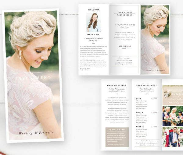 Wedding Photography Brochure Design