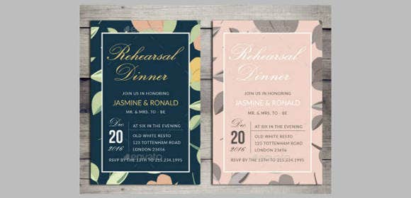 17 Rehearsal Dinner Invitation Designs