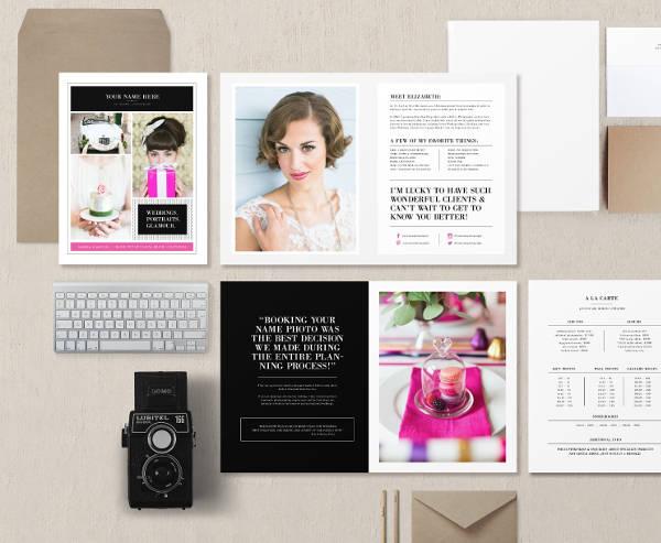 wedding welcome magazine template
