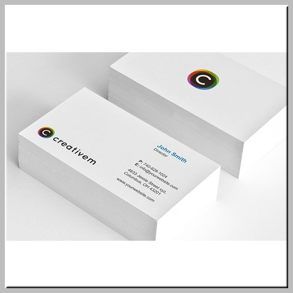 White Minimal Business Card Template