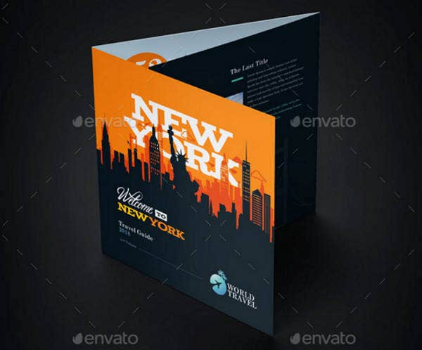 World Travel Trifold Brochure Template