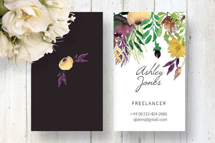 wreath-watercolour-business-card-template