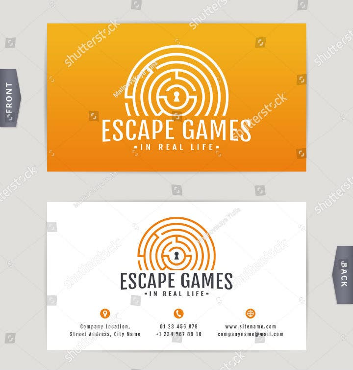 yellow labyrinth business card template