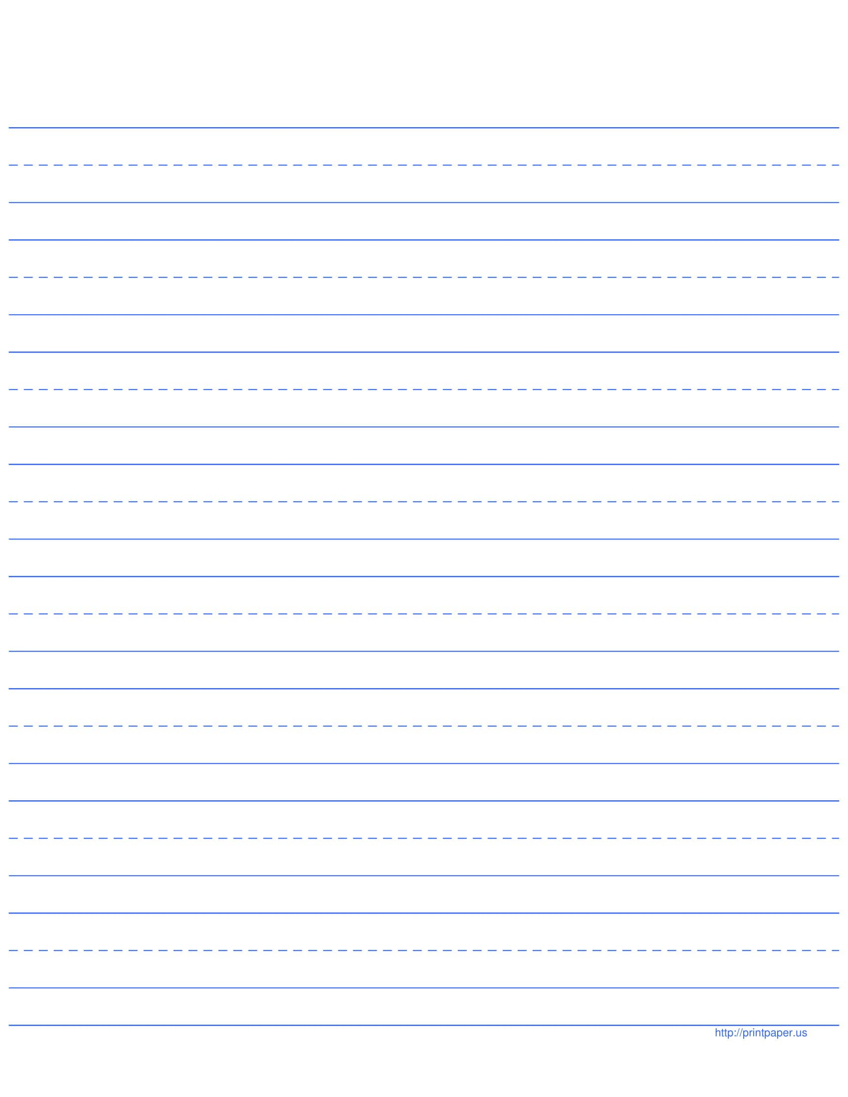 story time lined paper template
