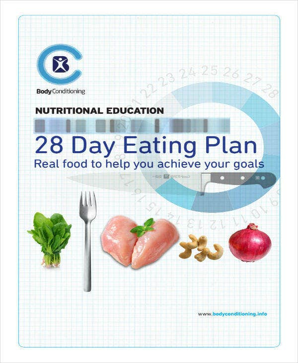 28 day eating plan sample