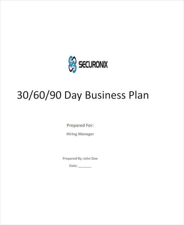 30 60 90 day business sales plan