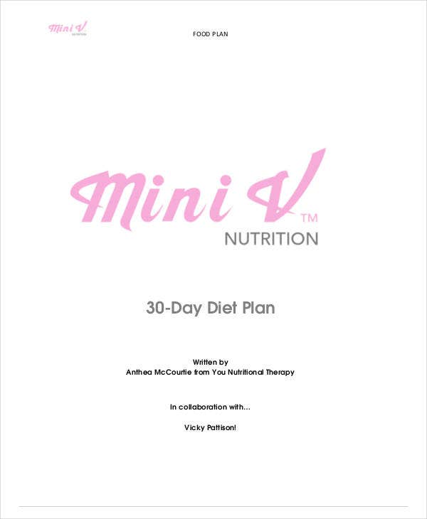 30 day diet plan example