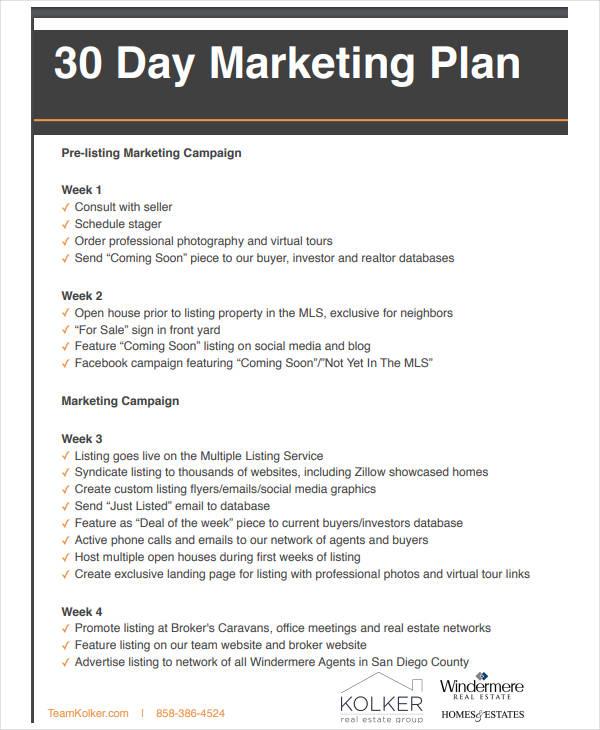 10 Basic Real Estate Marketing Plan Templates PDF Free