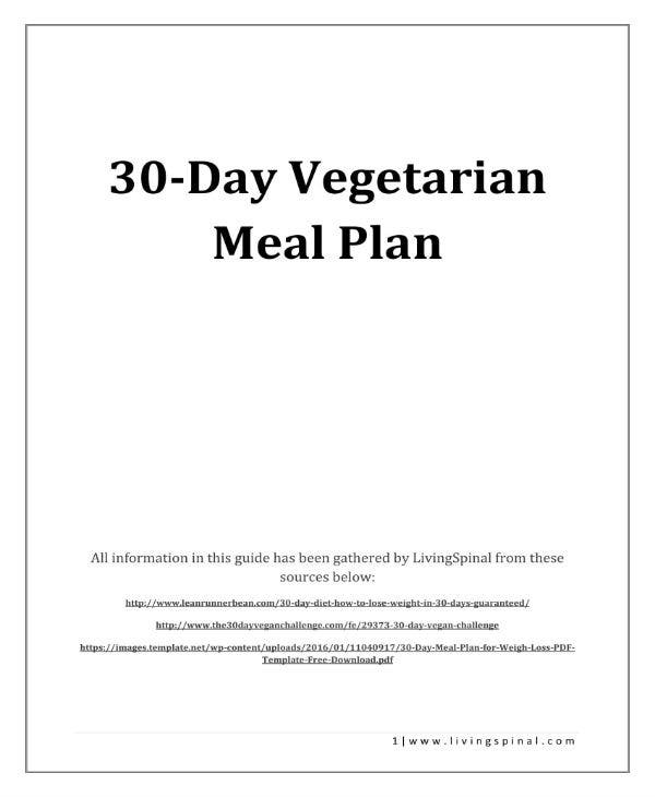 30 day vegetarian meal plan guide 01