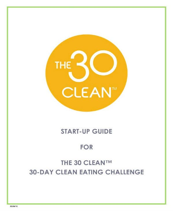 30 day clean eating dietary plan 01