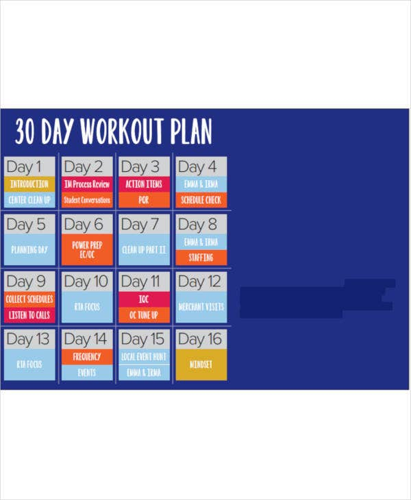30 day workout plan example