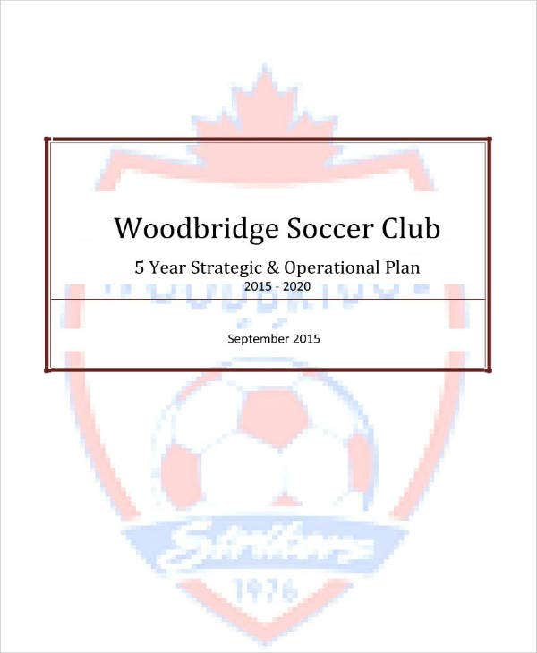 5 Year Soccer Club Strategic Plan