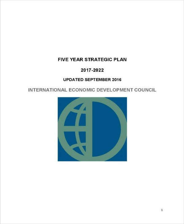 5 Year Strategic Plan Sample