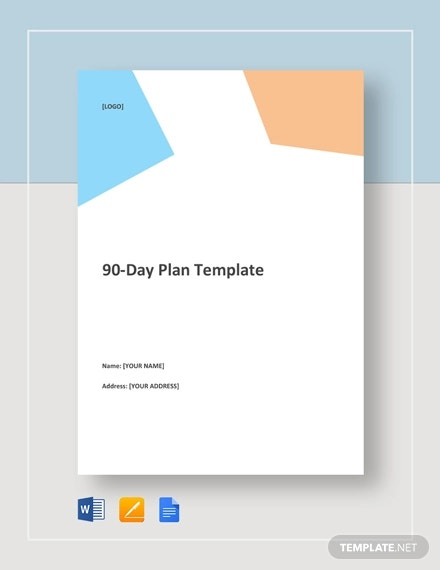 90 Day Plan Template