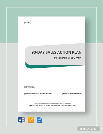 90 day sales action plan template