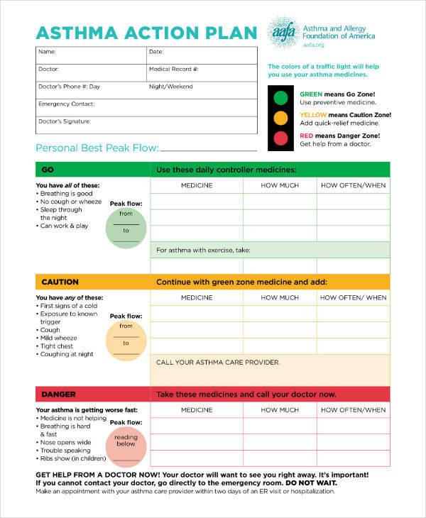 AAFA Asthma Action Plan Template