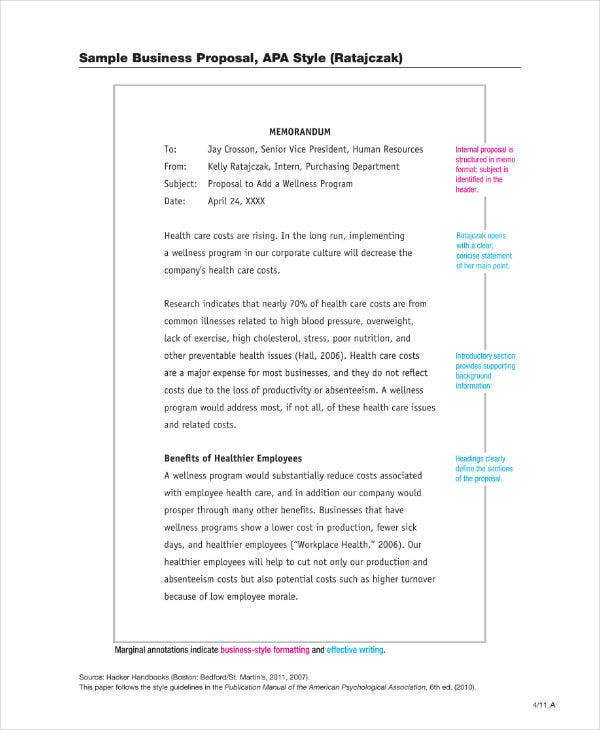 APA Sample Business Proposal