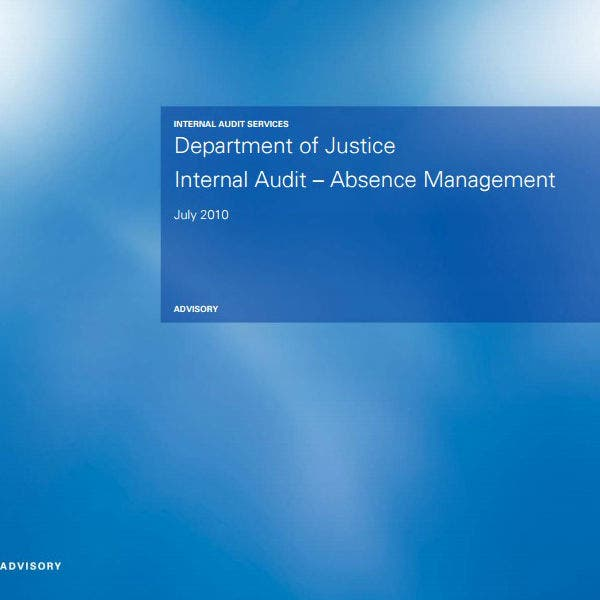 absence management internal audit report template