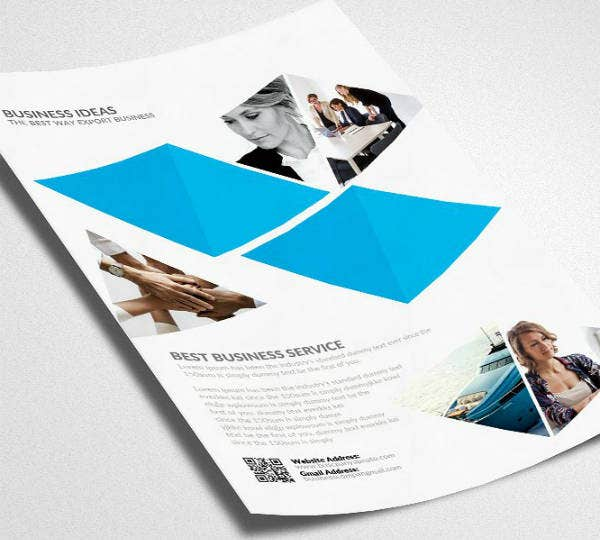 Abstract Investment Management Flyer