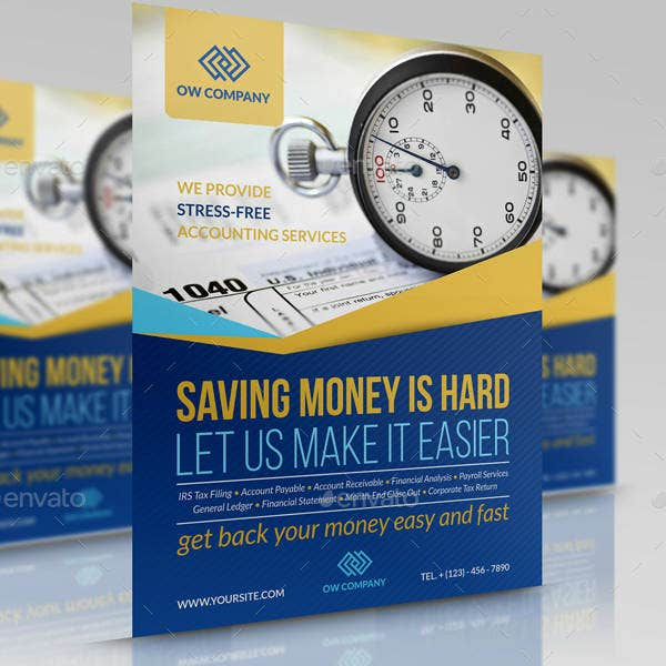 Accounting Service Flyer Design
