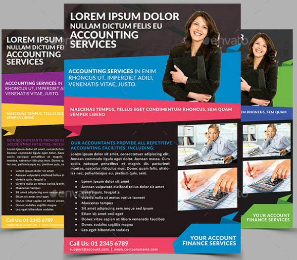 Accounting Services Firm Flyer Template