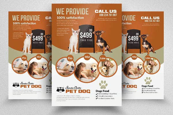 Adopt Pet Animals Flyer
