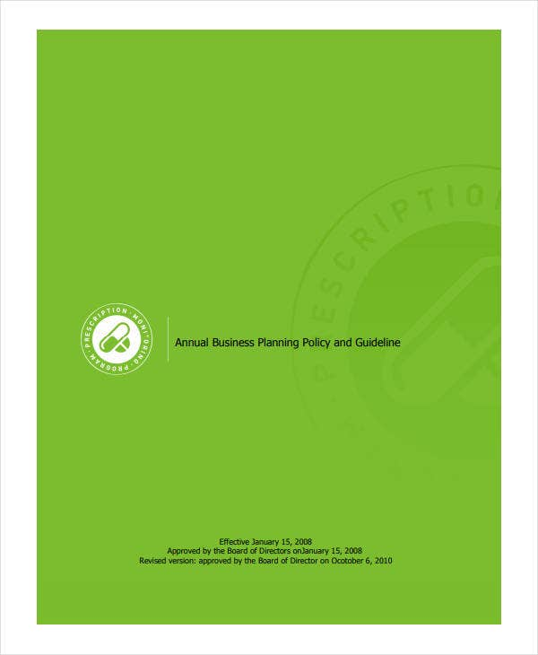 annual business planning policy and guideline