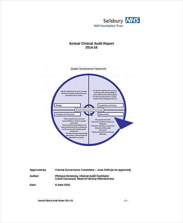 Annual Clinical Audit Report Template