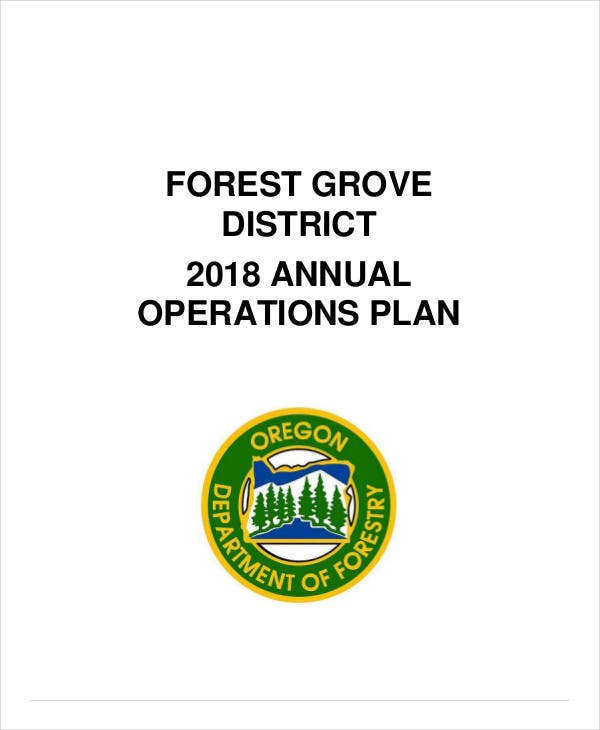 annual project operation plan