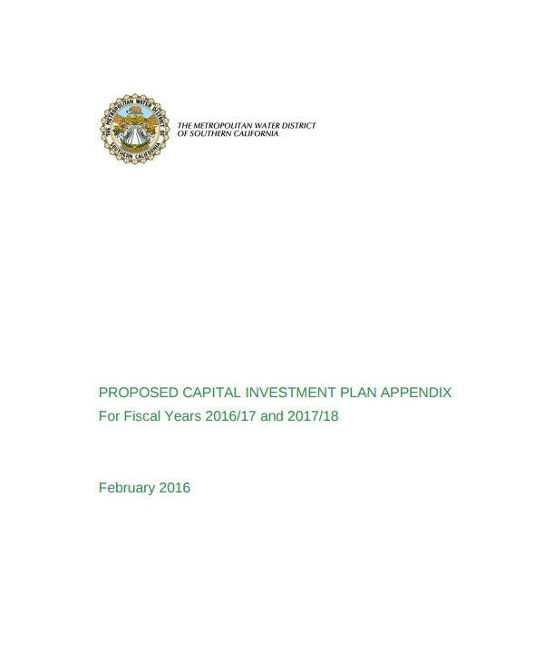 annual proposed capital investment proposal template