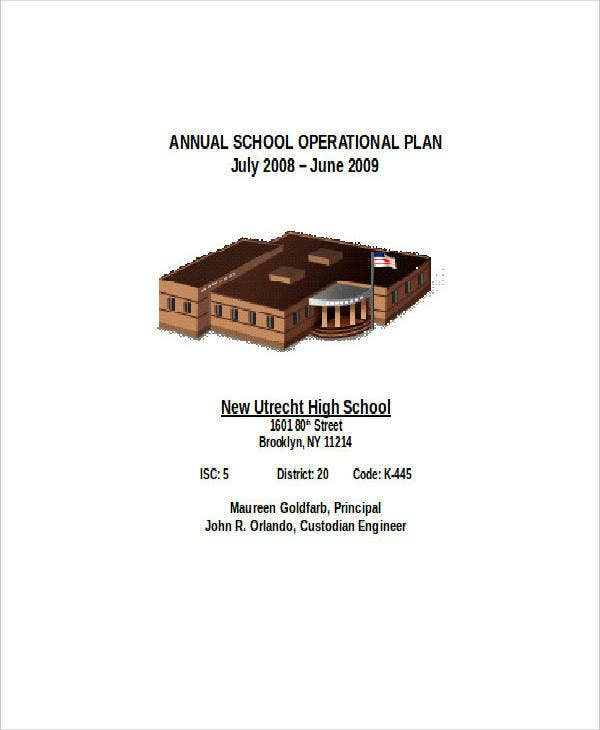 annual school operation plan