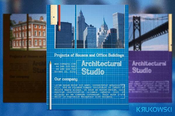 architect flyer design