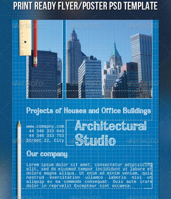 architectural studio flyer design1