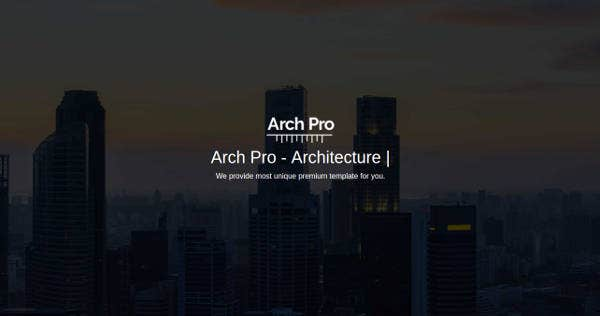 Architecture & Interior Website Theme