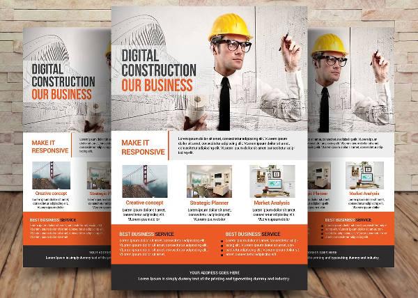 architecture magazine flyer sample