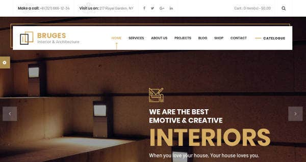 Architecture and Interior Website HTML Template