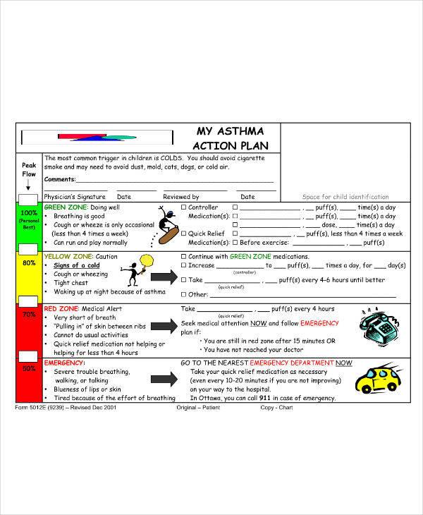 Asthma Action Plan Sample