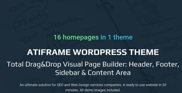 atiframe seo and web design company wordpress theme